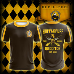 Hufflepuff Quidditch Team Harry Potter Unisex 3D T-shirt