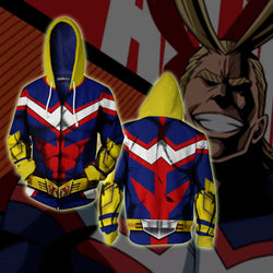 All Might My Hero Academia Zip Up Hoodie