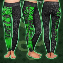 The Slytherin Snake Harry Potter Leggings