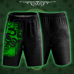 The Slytherin Snake Harry Potter Beach Short