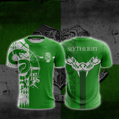 Quidditch Slytherin Harry Potter Unisex 3D T-shirt Fullprinted Unisex 3D T-shirt - WackyTee