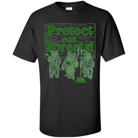 Movies T-shirt Protect Our Forests T-Shirt Black / S Custom Ultra Cotton - WackyTee