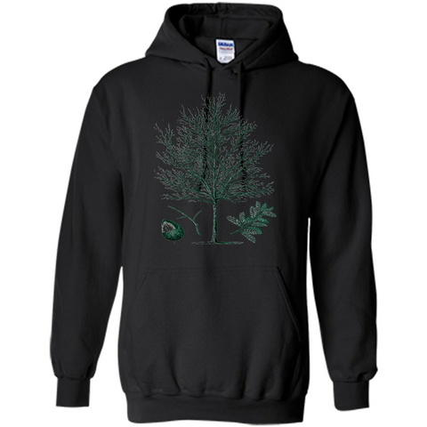 Oak Tree T-Shirt. Tree Acorn Oak Tree Woodsman T-shirt Black / S Pullover Hoodie 8 oz - WackyTee