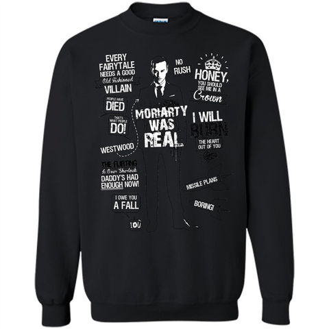 Good Old Fashioned Villain Quotes I Will Burn T-shirt Black / S Printed Crewneck Pullover Sweatshirt 8 oz - WackyTee