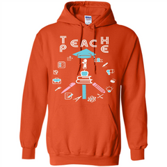 Teacher T-shirt Teach P.E T-shirt Pullover Hoodie 8 oz - WackyTee