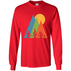 Cactus, Mountain and Sun T-shirt LS Ultra Cotton Tshirt - WackyTee