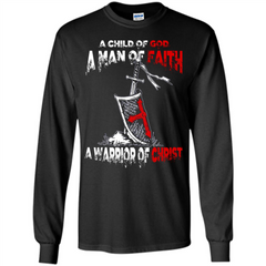 Christian T-shirt A Child Of God A Man Of Faith T-shirt LS Ultra Cotton Tshirt - WackyTee