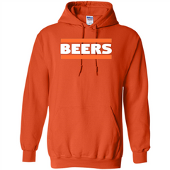 Funny Football T-shirt Chicago BEERS Blue and Orange Pullover Hoodie 8 oz - WackyTee