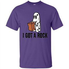 Halloween Ghost T-shirt I Got A Rock Custom Ultra Tshirt - WackyTee