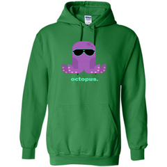 Sunglasses Hipster Squid T-shirt Sea Animals Octopus T-Shirt Pullover Hoodie 8 oz - WackyTee