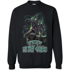 World of Warcraft T-shirt My Destiny Is My Own T-shirt Printed Crewneck Pullover Sweatshirt 8 oz - WackyTee