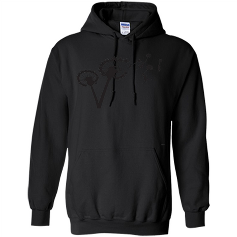 Dandylion Flight T-shirt Black / S Pullover Hoodie 8 oz - WackyTee