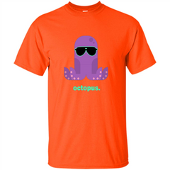 Sunglasses Hipster Squid T-shirt Sea Animals Octopus T-Shirt Custom Ultra Tshirt - WackyTee