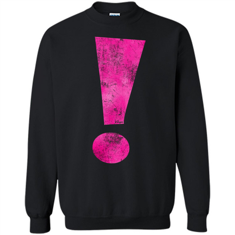 Exclamation Point Graphic T-shirt Black / S Printed Crewneck Pullover Sweatshirt 8 oz - WackyTee