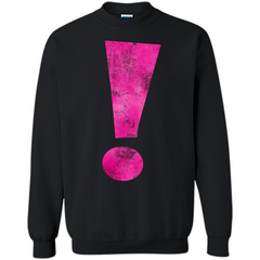 Exclamation Point Graphic T-shirt Printed Crewneck Pullover Sweatshirt 8 oz - WackyTee