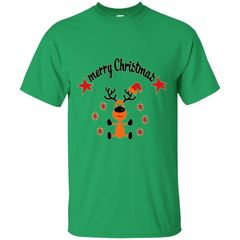 Snowman T-shirt Merry Christmas Custom Ultra Tshirt - WackyTee