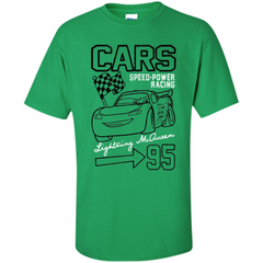 Pixar Cars McQueen Speed Power Racing 95 T-shirt Custom Ultra Cotton - WackyTee