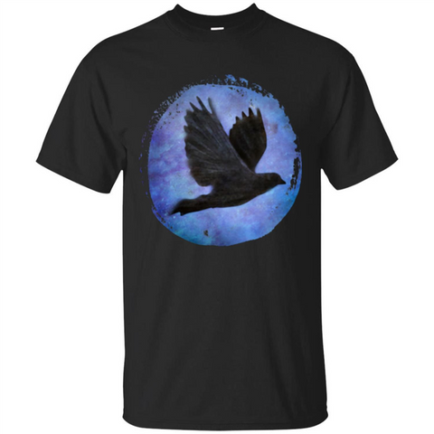 Raven In Flight T-shirt Black / S Custom Ultra Tshirt - WackyTee