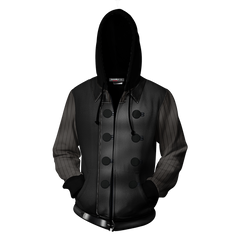 Spider-Man Noir Cosplay Zip Up Hoodie Jacket Fullprinted Zip Up Hoodie - WackyTee