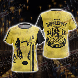 Harry Potter - Hufflepuff House Quidditch Unisex 3D T-shirt