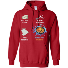 Baskettball T-shirt Nothing Beats Basketball Pullover Hoodie 8 oz - WackyTee