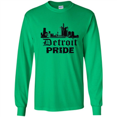 Detroit Pride T-shirt LS Ultra Cotton Tshirt - WackyTee