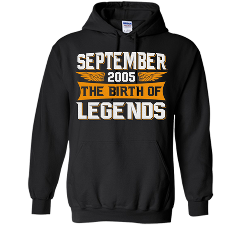September 2005 The Birth Of Legends - Birthday T-Shirt t-shirt Black / S Pullover Hoodie 8 oz - WackyTee