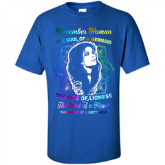 November Woman T-shirt The Heart Of A Hippie Custom Ultra Cotton - WackyTee