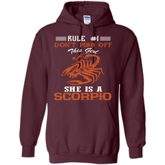 Scorpio T-shirt Rule Dont Piss Off This Girl T-shirt Pullover Hoodie 8 oz - WackyTee