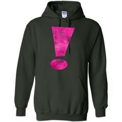 Exclamation Point Graphic T-shirt Pullover Hoodie 8 oz - WackyTee