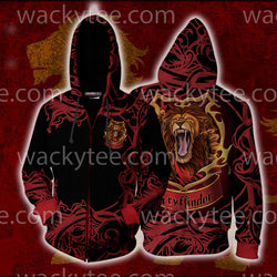 Brave Like A Gryffindor Harry Potter Zip Up Hoodie