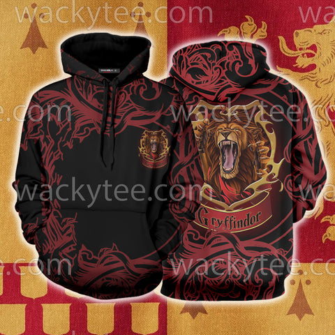 Brave Like A Gryffindor Harry Potter 3D Hoodie US/EU S (ASIAN L) Fullprinted No Zip Hoodie - WackyTee