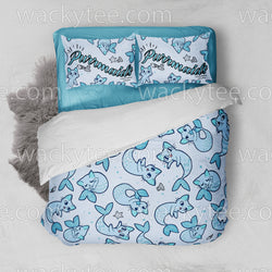 Cute Purrmaid Cat Mermaid Bed Set