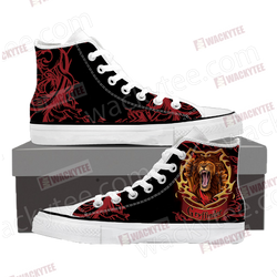 Brave Like A Gryffindor Harry Potter High Top Shoes