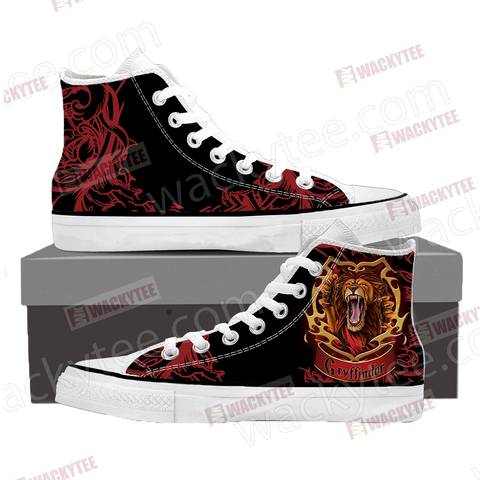 Brave Like A Gryffindor Harry Potter High Top Shoes Women / EU SIZE 35 High Top Shoes - WackyTee
