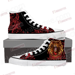 Brave Like A Gryffindor Harry Potter High Top Shoes High Top Shoes - WackyTee