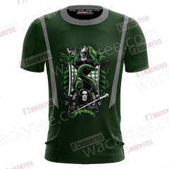 And Power-Hungry Slytherin Loved Those Of Great Ambition Unisex 3D T-shirt Fullprinted Unisex 3D T-shirt - WackyTee