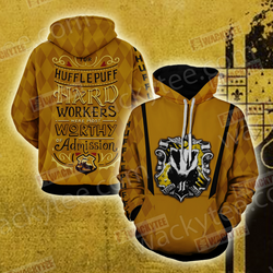 For Hufflepuff Hard Workers Were Most Worthy Of Admission 3D Hoodie