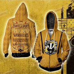 For Hufflepuff Hard Workers Were Most Worthy Of Admission Zip Up Hoodie