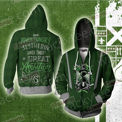 And Power-Hungry Slytherin Loved Those Of Great Ambition Zip Up Hoodie