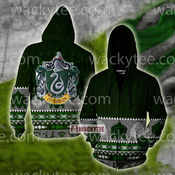 Cunning Like A Slytherin Harry Potter Wacky Style  Zip Up Hoodie