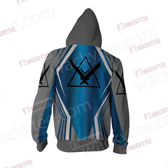 Halo - Noble Unisex Zip Up Hoodie Jacket Fullprinted Zip Up Hoodie - WackyTee