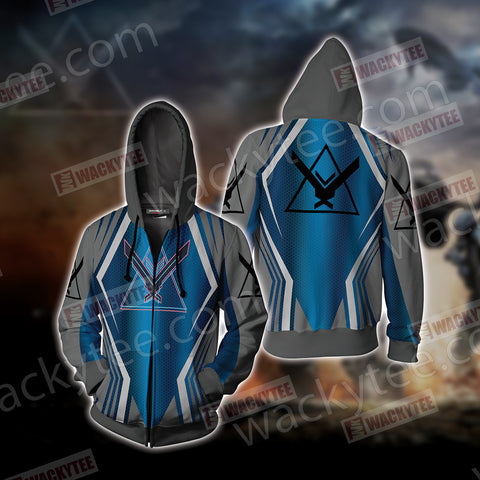 Halo - Noble Unisex Zip Up Hoodie Jacket US/EU XXS (ASIAN S) Fullprinted Zip Up Hoodie - WackyTee