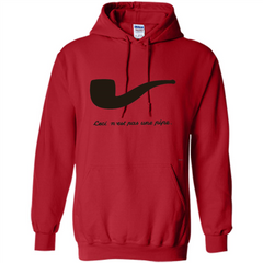 Ceci N'est Pas Une Pipe T-Shirt Pullover Hoodie 8 oz - WackyTee