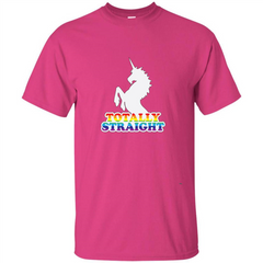 Totally Straight Unicorn T-shirt Custom Ultra Tshirt - WackyTee