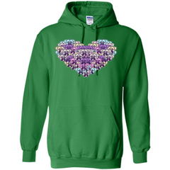 Boxer Dog Heart Mosaic Dog Lover T-shirt Pullover Hoodie 8 oz - WackyTee
