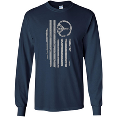 American Peace Flag T-shirt Patriotic Peace Sign Flag Shirt LS Ultra Cotton Tshirt - WackyTee