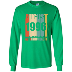 August 1996 Authentic Quality T-shirt LS Ultra Cotton Tshirt - WackyTee