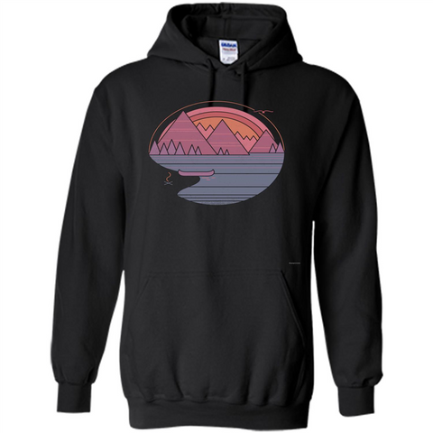 The Mountains Are Calling I Must Go T-shirt Black / S Pullover Hoodie 8 oz - WackyTee