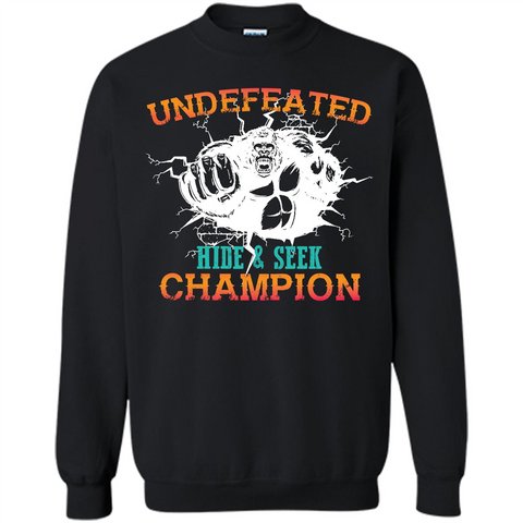 fbb31002 Undefeated Hide and Seek Champion T-shirt Black / S Printed Crewneck  Pullover Sweatshirt 8
